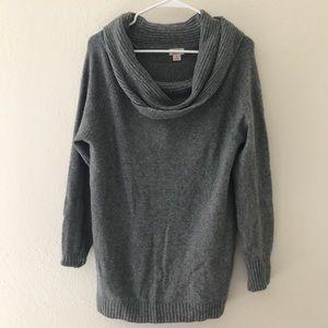 NWOT Grey Oversized Off Shoulder/Cowl Neck Sweater